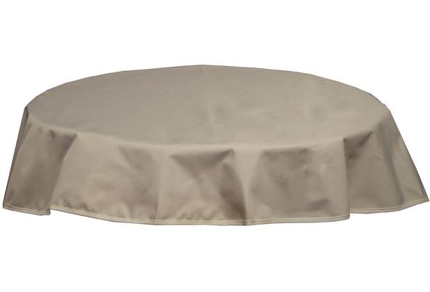 BEO Tischdecke rund 160 wasserabweisend mit Windport beige PY302