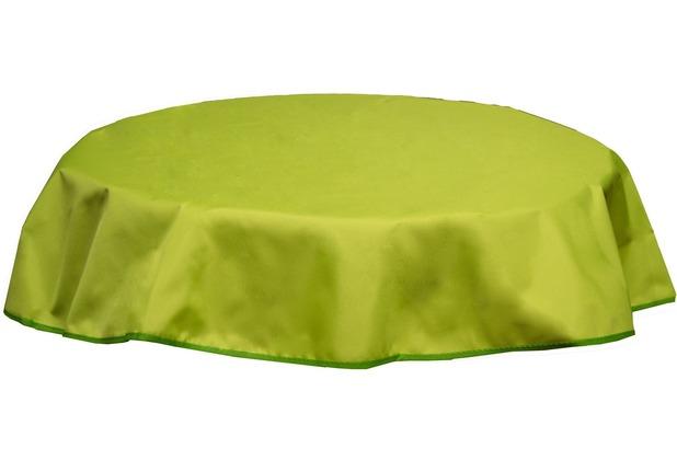 beo tischdecke rund 160 wasserabweisend mit windport hellgr n py306. Black Bedroom Furniture Sets. Home Design Ideas