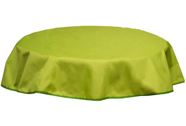BEO Tischdecke rund 160 wasserabweisend mit Windport hellgrün PY306