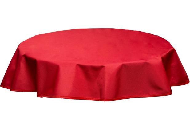BEO Tischdecke rund 160 wasserabweisend mit Windport rot PY305