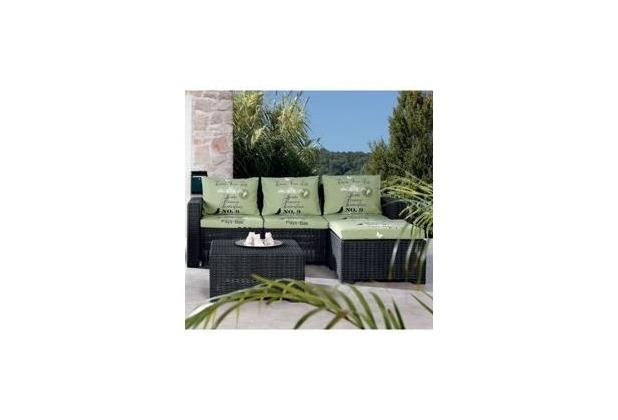 Best 3-tlg. Lounge Gruppe Kenia graphit/D.1532 Gartenlounge Sitzgruppe