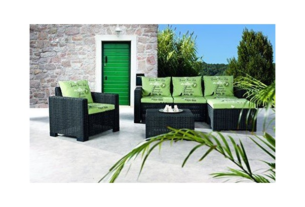 Best 4-tlg. Lounge Gruppe Kenia graphit/D.1532 Gartenlounge Sitzgruppe