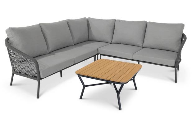 Best 4-tlg. Lounge Gruppe Mali anthrazit/grau