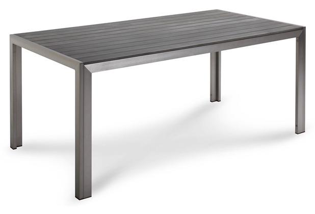 Best Tisch Seattle 180x90x76cm silber/anthrazit Gartentisch