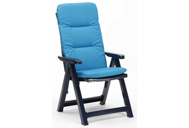 Best Klappsessel Santiago blau+PL D.1360 Gartenstuhl