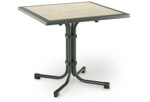 Best Tisch Boulevard Quadrat 80x80cm weiss Gartentisch
