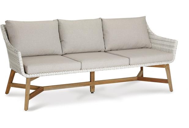 Best Gartenlounge Couch Paterna 3-Sitzer Teakholz/alabaster