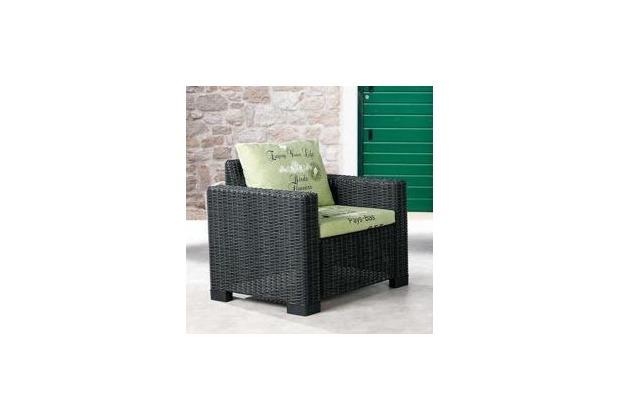 Best Lounge Sessel Kenia graphit/D.1532 Gartenstuhl