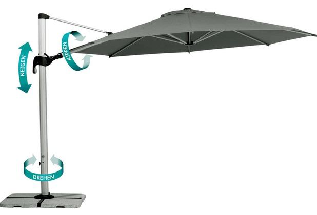 Best Polyesterschirm Kreta 270cm Ø/8-tlg. anthrazit Sonnenschirm