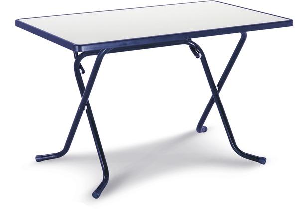 Best Scherenklapptisch eckig 110x70cm blau