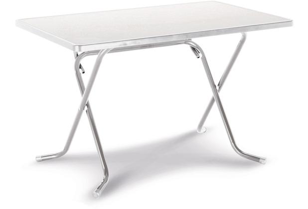 Best Scherenklapptisch eckig 110x70cm silber Gartentisch