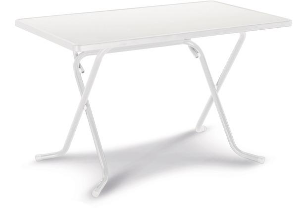 Best Scherenklapptisch eckig 110x70cm weiss Gartentisch