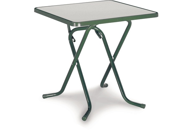 Best Scherenklapptisch eckig 67x67cm grün Gartentisch