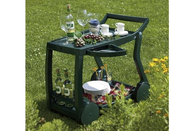 Best Servierwagen Galileo grün Barwagen