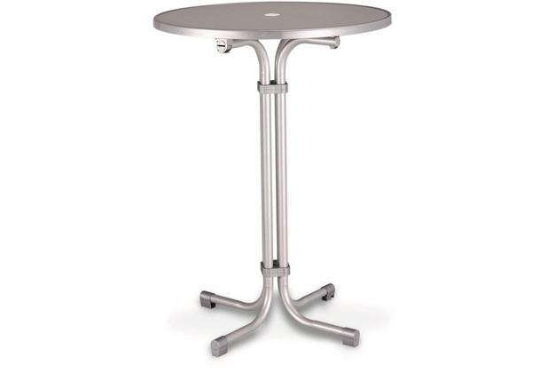 Best Stehtisch Multiflex rund 80cm silber Gartentisch