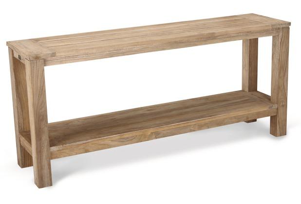 Best Teak-Sideboard Moretti 170x42cm grey-wash Gartenregal