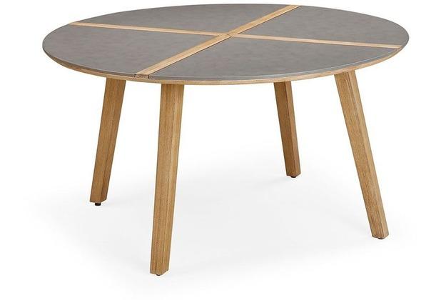 Best Tisch Barletta 140cm rund Grandis/betongrau Gartentisch