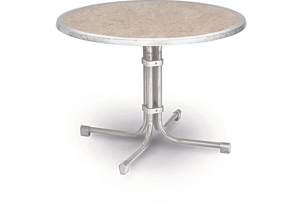 Best Tisch Boulevard rund 100cm Ø silber Gartentisch