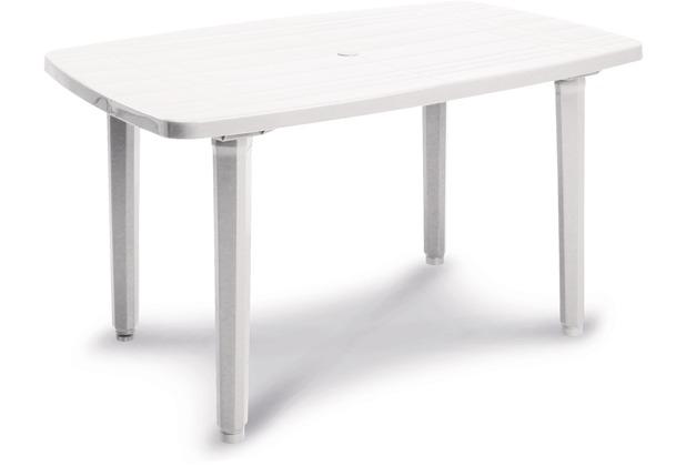 Best Tisch Festival 137x90cm weiss Gartentisch