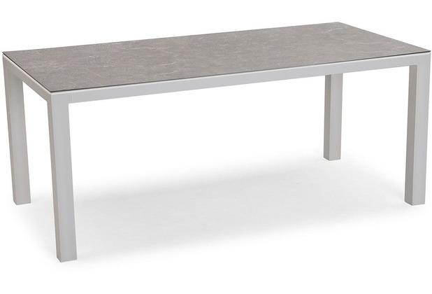 Best Tisch Houston 140x90cm silber/anthrazit Gartentisch