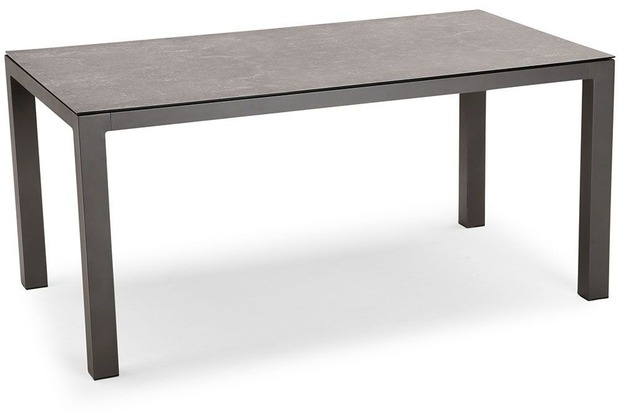 Best Tisch Houston 160x90cm anthrazit/anthrazit Gartentisch