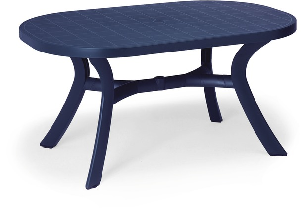Best Tisch Kansas oval 145x95cm blau Gartentisch