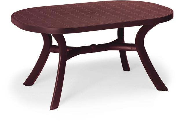 Best Tisch Kansas oval 145x95cm bordeaux Gartentisch