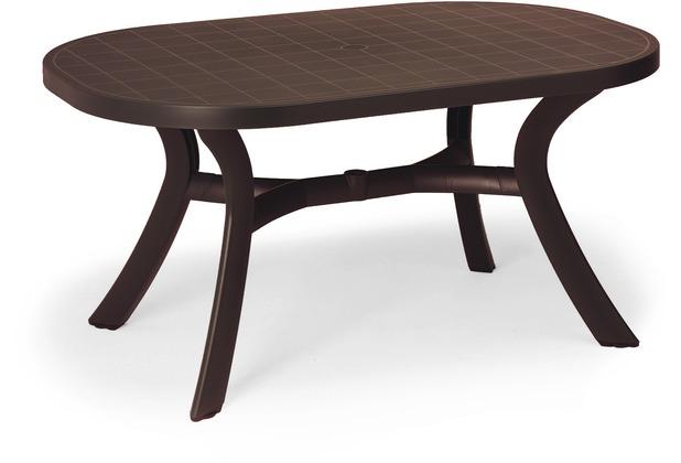 Best Tisch Kansas oval 145x95cm braun Gartentisch