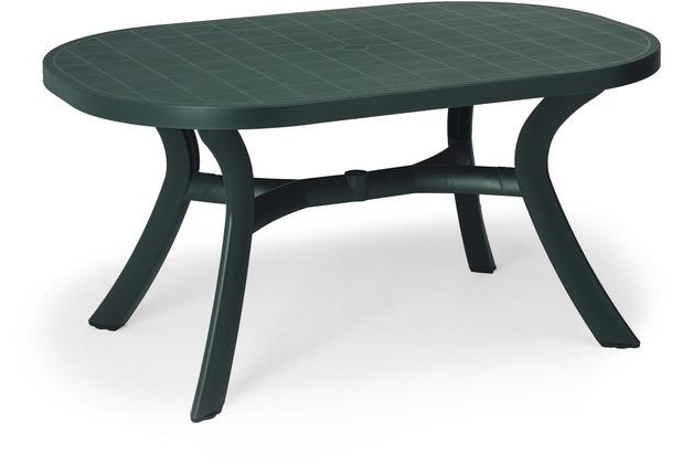 Best Tisch Kansas oval 145x95cm grün Gartentisch