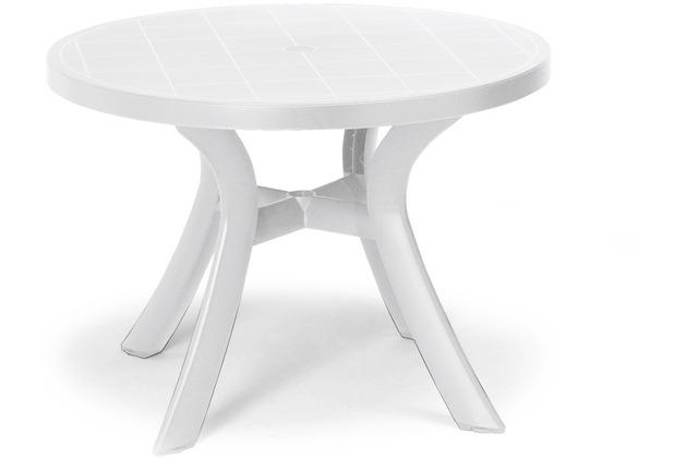 Best Tisch Kansas rund 100cm Ø weiss Gartentisch