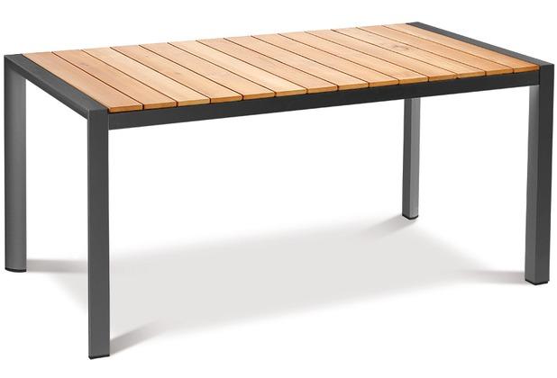 Best Tisch Paros 160x90cm anthrazit/Teakholz Gartentisch