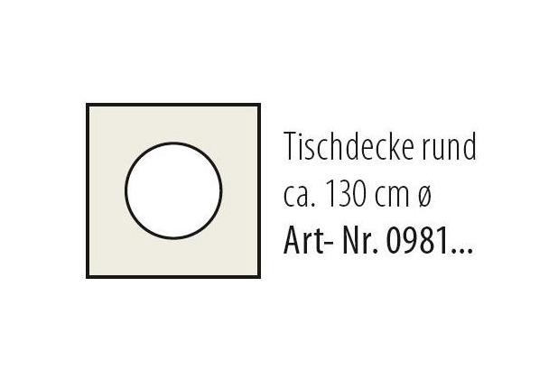 Best Tischdecke rund 130cm terracotta-marm.