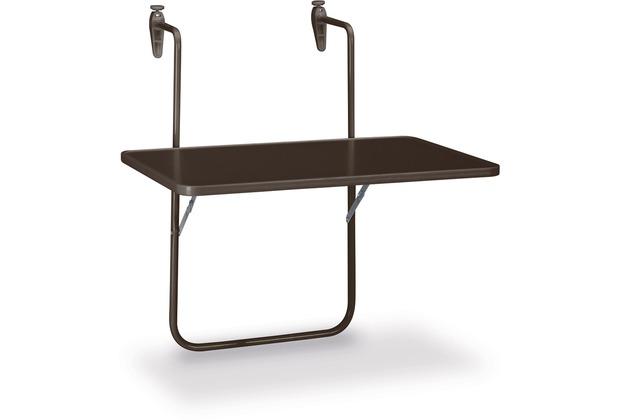 Best Balkonhängetisch Boy 60x40cm braun Gartentisch