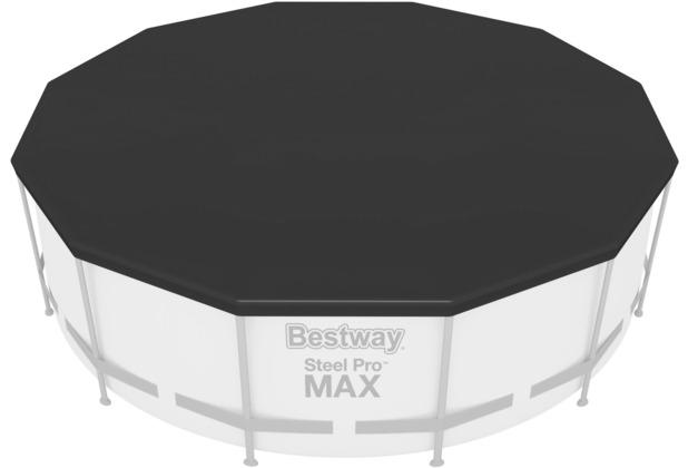 Bestway Flowclear PVC-Abdeckplane 370 cm Ø, schwarz (58037)