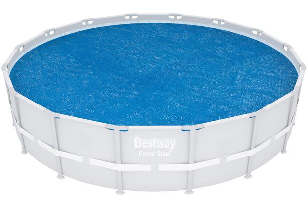 Bestway Flowclear Solarabdeckplane Ø 462 cm, blau (58253)