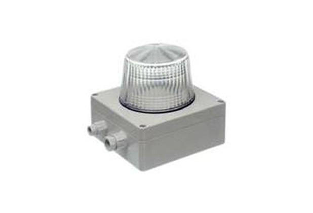 Bezet Rufsignal Blitz Typ 870, IP 65, klar, Abdeckung (Lichtfilter) klar-transparent, Schutzart IP 65