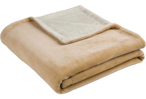 Biederlack Decke camel two tone 150 x 200 cm
