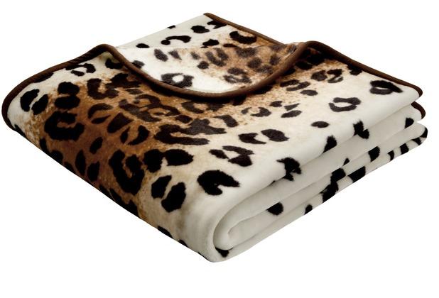 Biederlack Decke Leopard simply luxury 150 x 200 cm