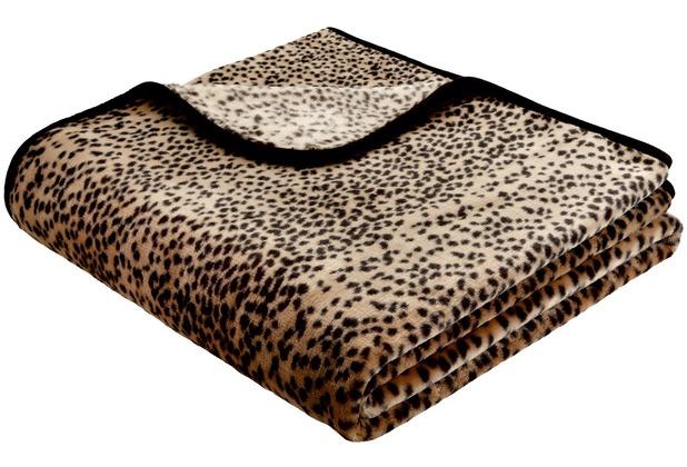 Biederlack Decke Schneeleopard simply luxury 150 x 200 cm