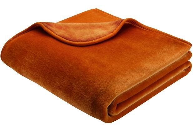 Biederlack Decke zimt simply luxury 150 x 200 cm