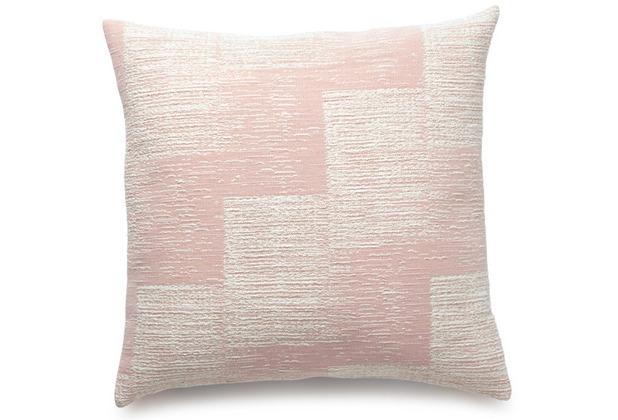 Biederlack Kissen mit Füllung Soft Impression rosé innenliegende Naht 50 x 50 cm