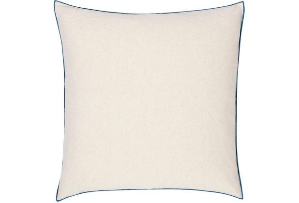 Biederlack Kissen ohne Füllung Kissen Blue Cushion farbige Umkettelung 50 x 50 cm