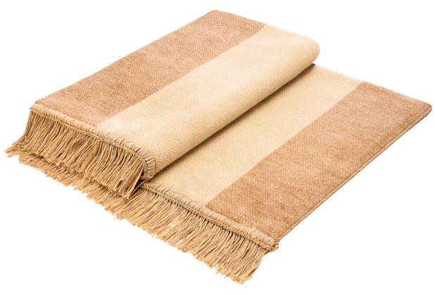 Biederlack Plaid / Decke Cover Cotton S&P beige 100 x 200 cm