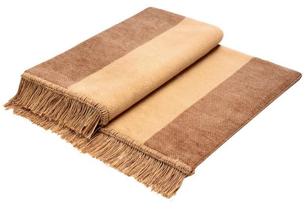 Biederlack Plaid / Decke Cover Cotton S&P kamel 100 x 200 cm