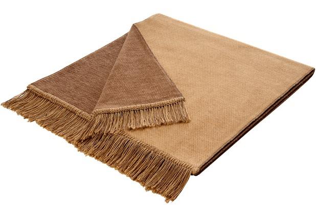 Biederlack Plaid / Decke Cover Cotton S&P kamel 50 x 200 cm