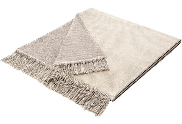 Biederlack Plaid / Decke Cover Cotton S&P natur 50 x 200 cm