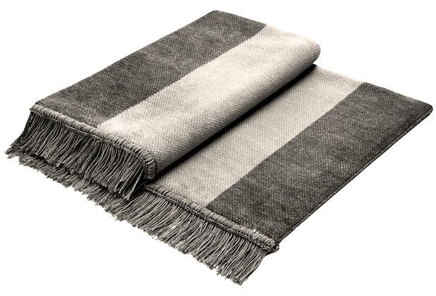 Biederlack Plaid / Decke Cover Cotton S&P silber 100 x 200 cm