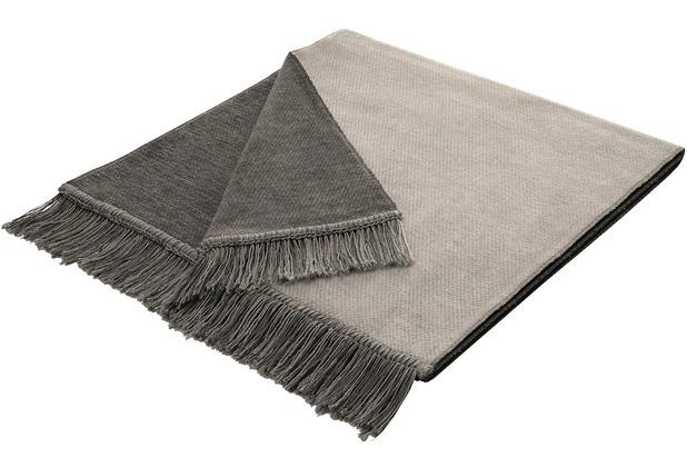 Biederlack Plaid / Decke Cover Cotton S&P silber 50 x 200 cm