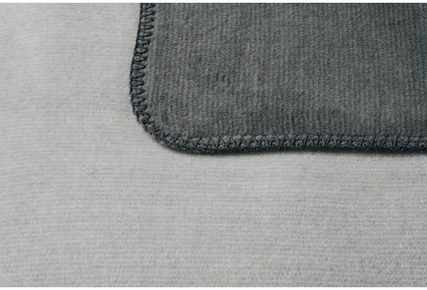 Biederlack Plaid / Decke Duo Co. Melange anthraz.-silber 150 x 200 cm