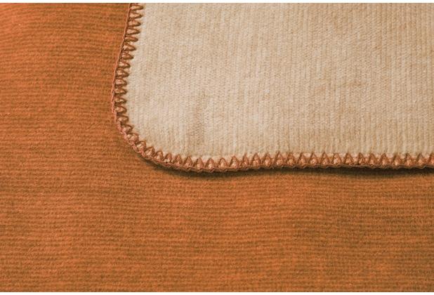 Biederlack Plaid / Decke Duo Co. Melange ocker-beige 150 x 200 cm